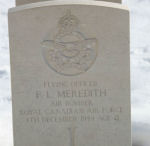 Grave Marker– Frederick Leonard Meredith's grave marker in the Durnbach War Cemetery, Germany.