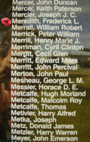 Memorial– Flying Officer Frederick Leonard Meredith is also commemorated on the Bomber Command Memorial Wall in Nanton, AB … photo courtesy of Marg Liessens