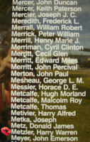 Memorial– Squadron Leader Harry Warren Metzler is also commemorated on the Bomber Command Memorial Wall in Nanton, AB … photo courtesy of Marg Liessens