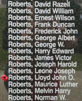 Memorial– Flight Sergeant Lloyd John Osborne Roberts is also commemorated on the Bomber Command Memorial Wall in Nanton, AB … photo courtesy of Marg Liessens