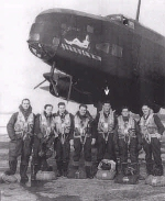 Photo of Lloyd George Scott– Lloyd Scott and His Crew, taken after their 28th mission.