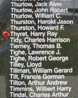 Memorial– Flight Sergeant Harry Ray Thyret is commemorated on the Bomber Command Memorial Wall in Nanton, AB … photo courtesy of Marg Liessens