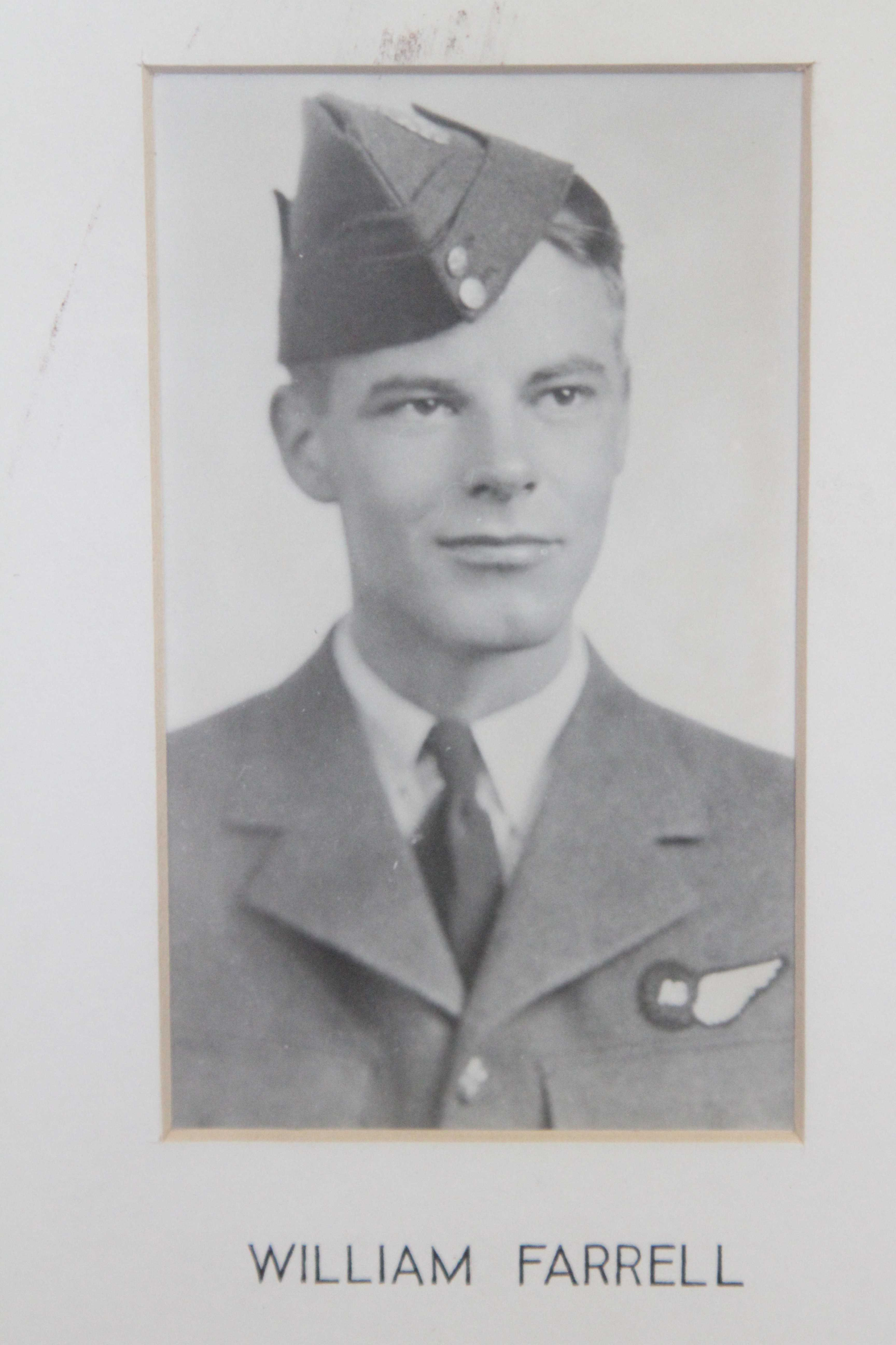 Photo of William Robert Farrell– In memory of the students from the Vaughan Road Collegiate Institute  (Toronto) who went away to war and did not come home. Submitted for the project, Operation Picture Me