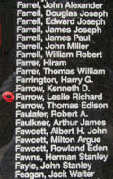 Memorial– Flight Lieutenant Navigator Leslie Richard Farrow is also commemorated on the Bomber Command Memorial Wall in Nanton, AB … photo courtesy of Marg Liessens