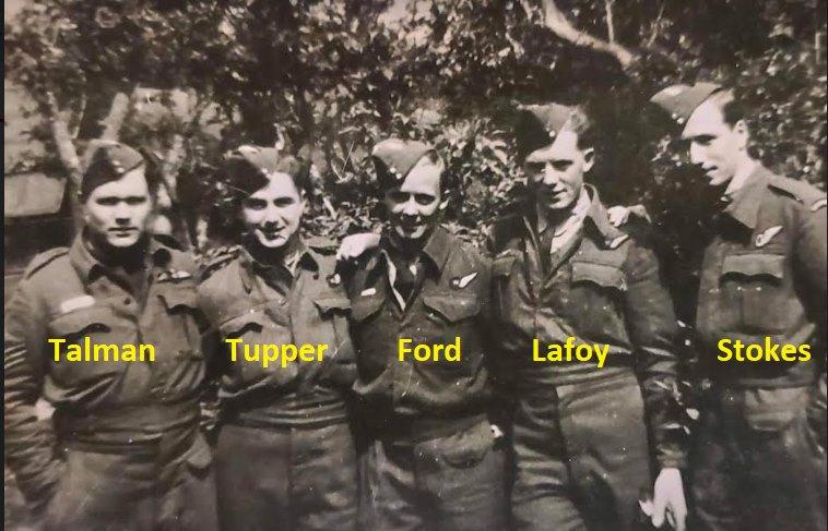 Group Photo– Dishforth, UK.  May 1943 right before Talman was KIA.