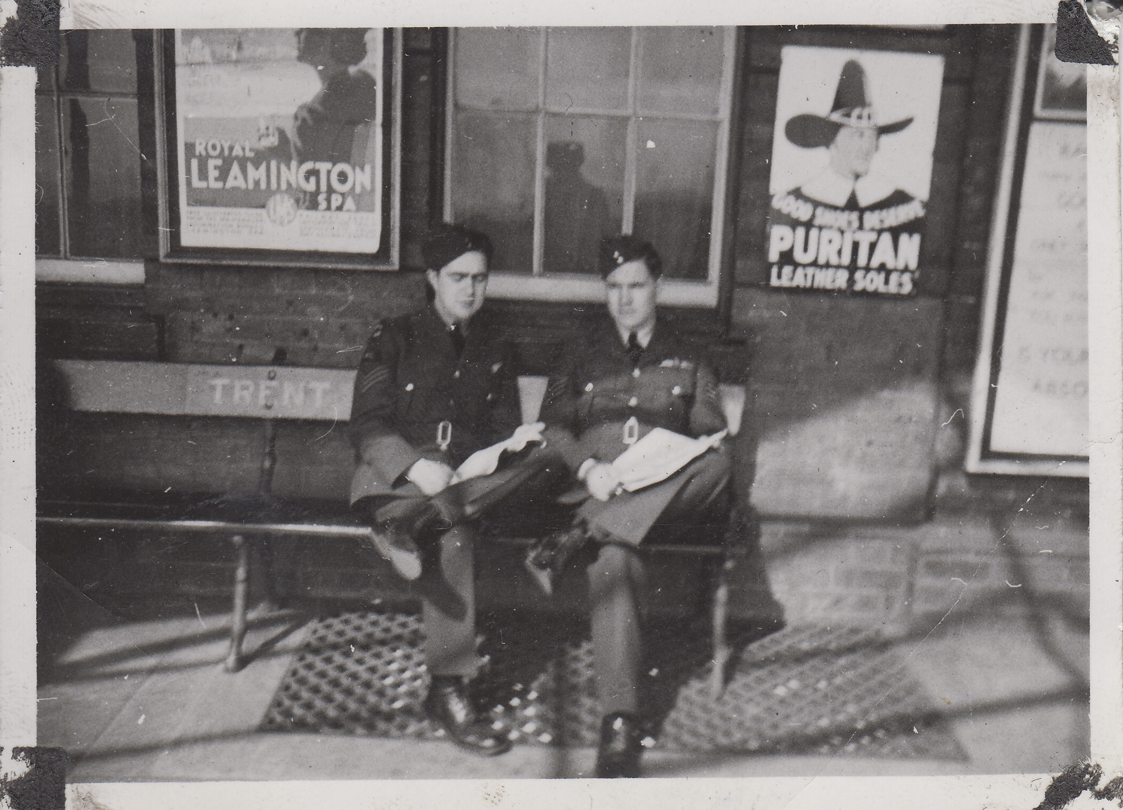 "Group Photo– Murray ""Tupp"" Tupper and Richard ""Spud"" Talman, UK."