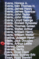Memorial– Sergeant Arthur Leslie Evens is also commemorated on the Bomber Command Memorial Wall in Nanton, AB … photo courtesy of Marg Liessens