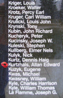 Memorial– Pilot Officer Allan Edward Kurtzhals is also commemorated on the Bomber Command Memorial Wall in Nanton, AB … photo courtesy of Marg Liessens