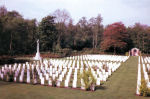 Cemetery– Photo of War Cemetery, Leopoldsburg, Belgium (CWGC)  P/O .Moxley, age 19, was Air Gunner on Lancaster LM261 Mk.1 which was delivered to 207 (RAF) Sqdn Jul44.  The aircraft had taken part in the Key Raid against Deelen 15Aug44. No other operational history traced. When lost this aircraft had a total of 143 hours. LM261 was airborne 2104 11Sep44 from Spilsby on a night raid against Darmstadt, Germany.   Three members of the crew were members of the RAF.  They were F/O (P) David Cooke, age 31; Sgt. (FE) A. H. Davies, age 21 and WO (WAG) J. M. Bingham, age 23.   The other Canadian crew members were: F/O (N) Edward J. Brian, age 27, from Windsor, Ont. F/O (BA) Ronald B. Gowan, age 21, from St. Andrews, N. B. F/O (AG) John J. Milne, age 30, from Toronto, Ont.  [Sources:  //lostbombers.co.uk;  CWGC; They Shall Grow Not Old, Commonwealth Air Training Plan Museum, Brandon, Manitoba]