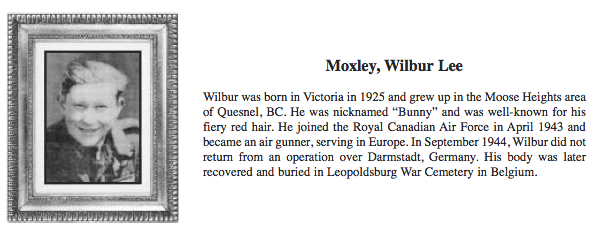 Photo of Wilbur Moxley– Submitted for the project, Operation: Picture Me