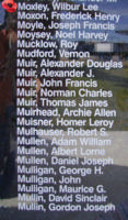 Memorial– Pilot Officer Wilbur Lee Moxley is also commemorated on the Bomber Command Memorial Wall in Nanton, AB … photo courtesy of Marg Liessens