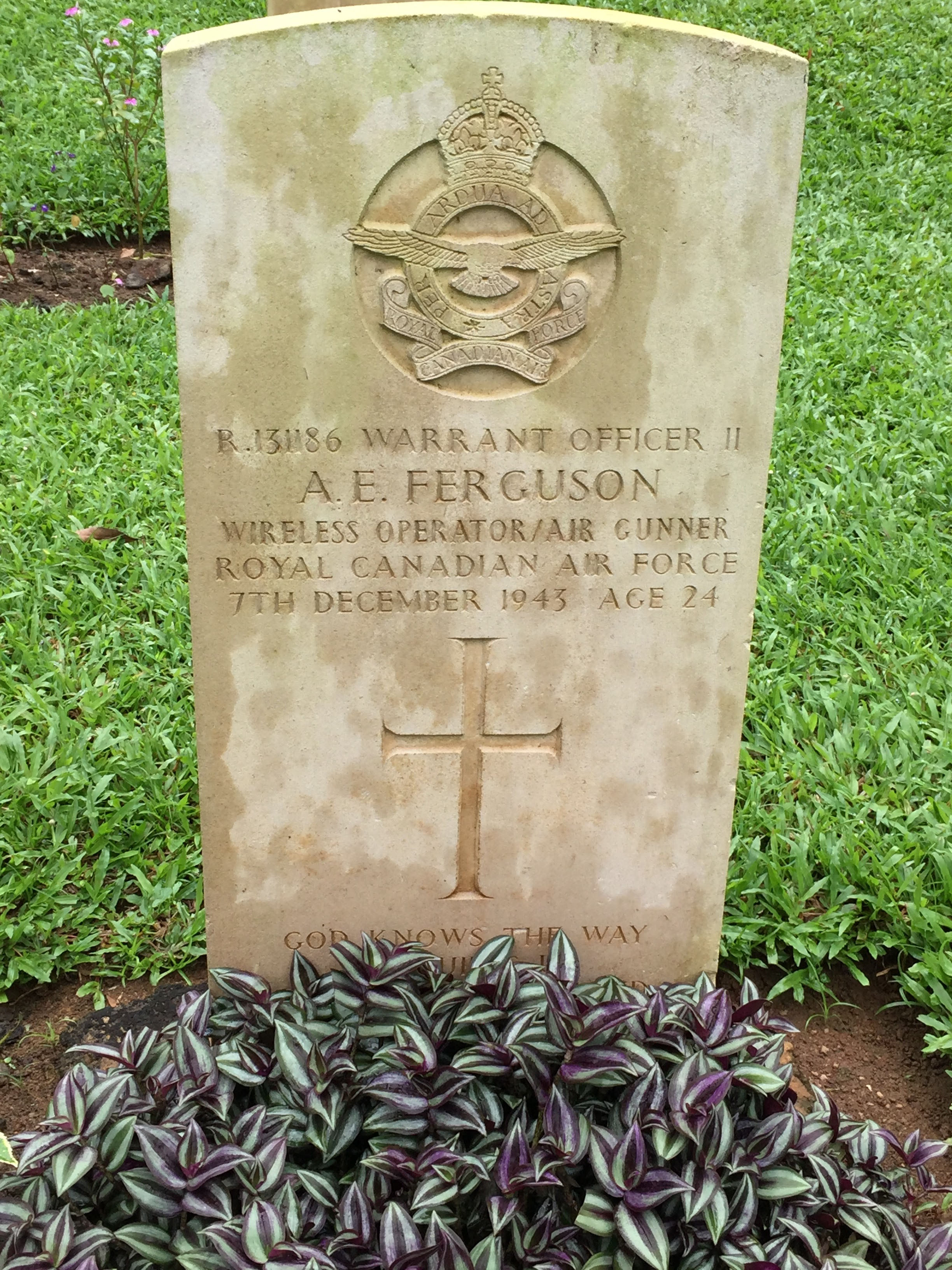 Grave Marker– Picture taken during our visit to the Kandy War Cemetery