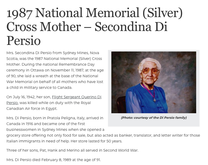 National Memorial Cross Mother