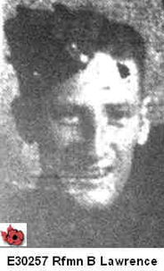 Photo of HERBERT LESLIE LAWRENCE– In memory of those who served in Hong Kong during World War 11 and did not come home. Submitted with permission on behalf of the Hong Kong Veterans Commemorative Association by Operation: Picture Me.