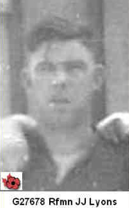 Photo of Jack Joseph Lyons– In memory of those who served in Hong Kong during World War 11 and did not come home. Submitted with permission on behalf of the Hong Kong Veterans Commemorative Association by Operation: Picture Me.