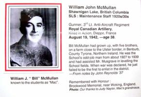 Photo of WILLIAM JOHN MCMULLAN– Submitted for the project, Operation Picture Me