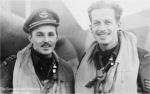 Photo of Claude Berges– Photo of Pilot Philip Red Myrick and his Navigator Claude Berges.