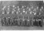 Group photo– Photo taken in Scotland end of October 1944 at 132 East Fortune, near Edinburgh, O.T.U Training Unit.  Top Row:  3rd from left ¿ P/O Claude Berges  Pilot Officer (Navigator) Claude Gerald Berges J/95209, age 25, son of Eugene and Edith Berges, husband of Hilda Mary Berges, of Quebec City   Second Row:  3rd from left -  F/O O. W. Knight, Hugh Lynch and F/O Rex Myrick  Flying Officer (Navigator) Oswald Wellington Knight J/36373, age 27, son of Mr. and Mrs. Louis Knight; husband of Doreen B. Knight, of Saskatoon and Vancouver, B.C.  Flying Officer (Pilot) Hugh Charles Lynch J/35785, age 24, son of Mr. and Mrs. Eugene Lynch, Mallorytown, Ontario.  Flying Officer (Pilot) Philip Rex Myrick J/35788, age 22, son of Willard R. and Edna C. Myrick, of  Tillsonburg, Ontario