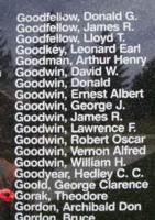 Memorial– Flying Officer Theodore Gorak is also commemorated on the Bomber Command Memorial Wall in Nanton, AB … photo courtesy of Marg Liessens