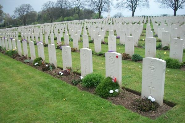 Cemetery– Hanover War Cemetery - April 2017 ... photo courtesy of Marg Liessens