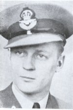 Photo of Hedley Charles Goodyear– From the Sydney Academy Memorial booklet, published by the Student's Assembly in memory of former students who served during the Second World War.  The original pictures were supplied by the Sydney Post-Record and the booklet was compiled by Jack Wilcox, class of 1946 and Donald Trivett, class of 1947. Additional Information courtesy of Floyd Williston: F/L Hedley Goodyear, age 25, was killed when Lancaster LM 476, of No.61 Squadron, was shot down at Lugde, Westphalia, Germany, during a night raid on Brunswick. F/L Goodyear had previously cheated the Reaper when his Manchester bomber crashed at Metheringham, Lincolnshire, during a severe snowstorm. Originally buried at Lugde, his remains were later re-buried in the Limmer British Cemetery, Hanover, Germany.