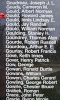 Memorial– Flying Officer Howard James Gould is also commemorated on the Bomber Command Memorial Wall in Nanton, AB … photo courtesy of Marg Liessens