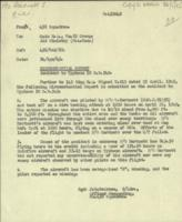 Circumstances of crash– Circumstantial report of the crash of Typhoon RB342, piloted by F/O Timothy Hartnett.  LAC, Ottawa