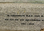 Inscription– Bottom of the Memorial. The Memorial is located in Dalton-on-Tees, Yorkshire.