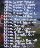 Memorial– Flight Sergeant Harold Roy Millson is also commemorated on the Bomber Command Memorial Wall in Nanton, AB … photo courtesy of Marg Liessens