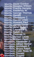 Memorial– Flying Officer Dugald Morrison is also commemorated on the Bomber Command Memorial Wall in Nanton, AB … photo courtesy of Marg Liessens