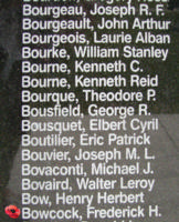 Memorial– Flight Sergeant Frederick Hamilton Bowcock is also commemorated on the Bomber Command Memorial Wall in Nanton, AB … photo courtesy of Marg Liessens