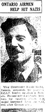 Newspaper Clipping– From the Toronto Star for 22 July 1943, page 2.