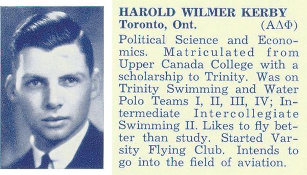 Photo– Photograph of Kerby from Torontonensis, University of Toronto yearbook, 1938