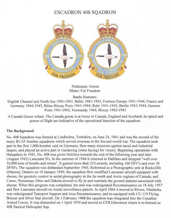Squadron information