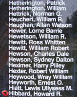 Memorial– Flight Sergeant Howard Robert Hibbard is also commemorated on the Bomber Command Memorial Wall in Nanton, AB … photo courtesy of Marg Liessens