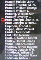 Memorial– Pilot Officer Joseph Jean Baptiste Benoit Huot is also commemorated on the Bomber Command Memorial Wall in Nanton, AB … photo courtesy of Marg Liessens