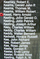 Memorial– Sergeant Harry Arnold Keast is also commemorated on the Bomber Command Memorial Wall in Nanton, AB … photo courtesy of Marg Liessens