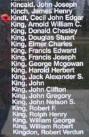 Memorial– Warrant Officer Class II Cecil John Edgar Kindt is also commemorated on the Bomber Command Memorial Wall in Nanton, AB … photo courtesy of Marg Liessens