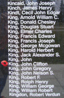 Memorial– Flight Sergeant John Clifton King is also commemorated on the Bomber Command Memorial Wall in Nanton, AB … photo courtesy of Marg Liessens