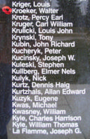 Memorial– Flight Lieutenant Walter Kroeker is also commemorated on the Bomber Command Memorial Wall in Nanton, AB … photo courtesy of Marg Liessens