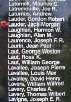Memorial– Flying Officer Jack Morgan Lauder is also commemorated on the Bomber Command Memorial Wall in Nanton, AB … photo courtesy of Marg Liessens