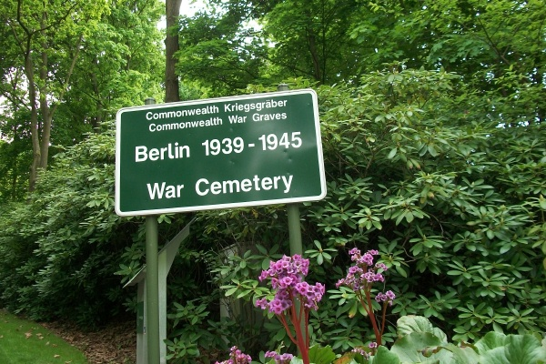 Cemetery– Entrance sign to the Berlin 1939 - 1945 War Cemetery - May 2015 Photo courtesy of Marg Liessens