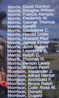 Memorial– Sergeant Bruce Ralph Morrison is also commemorated on the Bomber Command Memorial Wall in Nanton, AB … photo courtesy of Marg Liessens