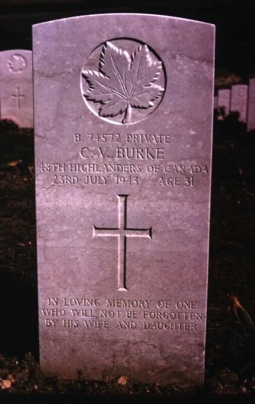 Headstone of Carl Victor Burke