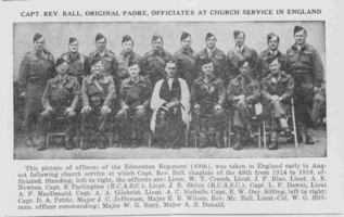 Photo of WILLIAM GLEDSTANES BURY– From the Loyal Edmonton Regimental magazine the Fortyniner.  Submitted for the project, Operation Picture Me