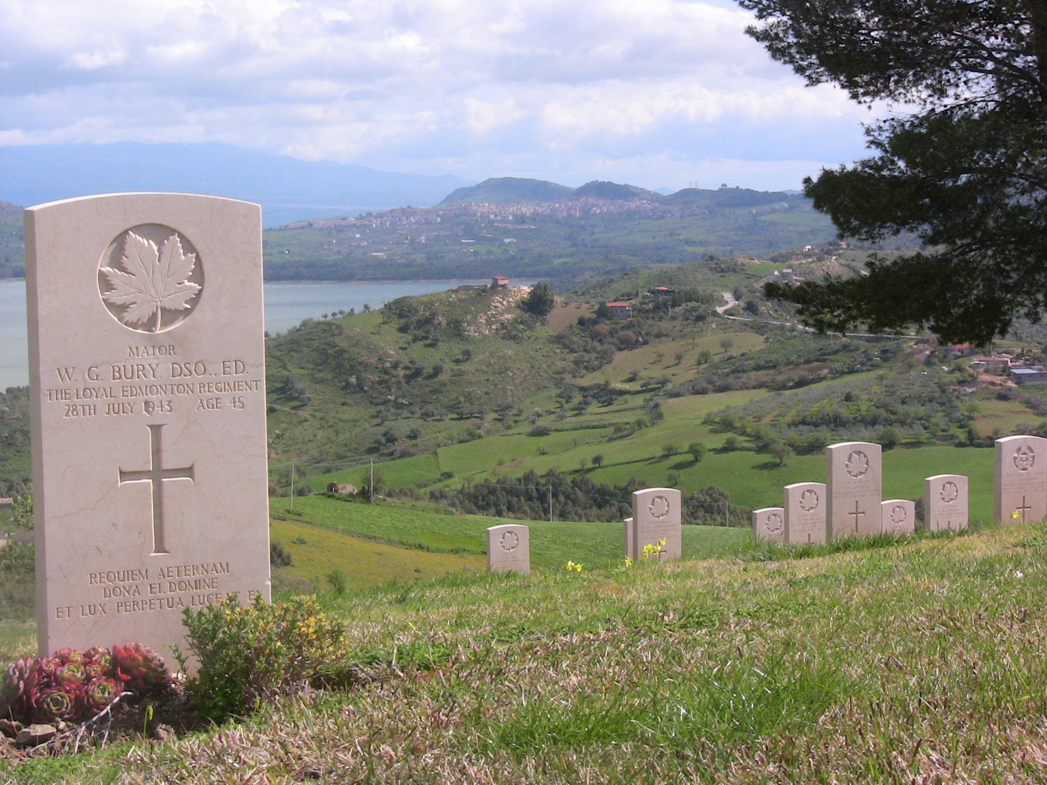 Grave Marker– W.G. Bury DSO - Grave Marker