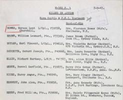List of Casualties– Submitted for the project, Operation Picture Me
