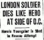 Newspaper Clipping– Source:  Hamilton Spectator October 5, 1943