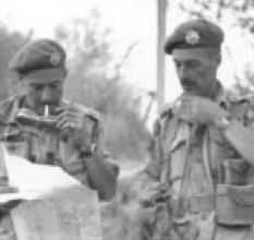 Group Photo– Lt.Col. Crowe and Major Pope checking a map outside Piazza Armerina. Submitted for the project, Operation: Picture Me