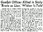 Newspaper Clipping– Source:  Globe and Mail September 23, 1943
